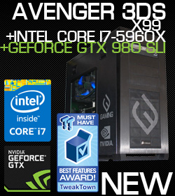 The all-new Avenger 3DS - top of the line desktop gaming PC featuring Intel X79 Express Chipset and Intel Core i7 3960X processor with NVIDIA SLI Technology